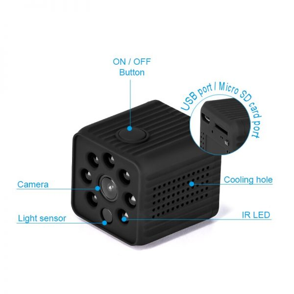 706 WiFi IP Camera Home Security Wireless Mini Camcorder HD 1080P DVR IR Automatic Night Vision 1