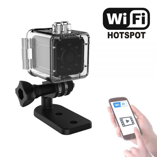 Cute AF Mini Sport Camera with Motion Detection Night Vision and Waterproof case Video can watch