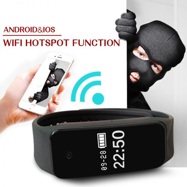 Fitness Bracelet Camera 1080p Full HD Smart Wristband with WiFi Video can watch in phone APP 2