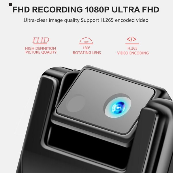 K26 Voice Recorder with 1080P Rotable Lens HD Light Body Camera Motion Detection Snapshot Loop Recording 1