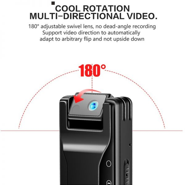 K26 Voice Recorder with 1080P Rotable Lens HD Light Body Camera Motion Detection Snapshot Loop Recording 2