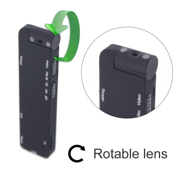 MD14 Motion Detection 1080P Rotable Lens HD Light Body Action Camera Video Loop Recording Camcorder 1