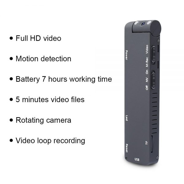MD14 Motion Detection 1080P Rotable Lens HD Light Body Action Camera Video Loop Recording Camcorder 2