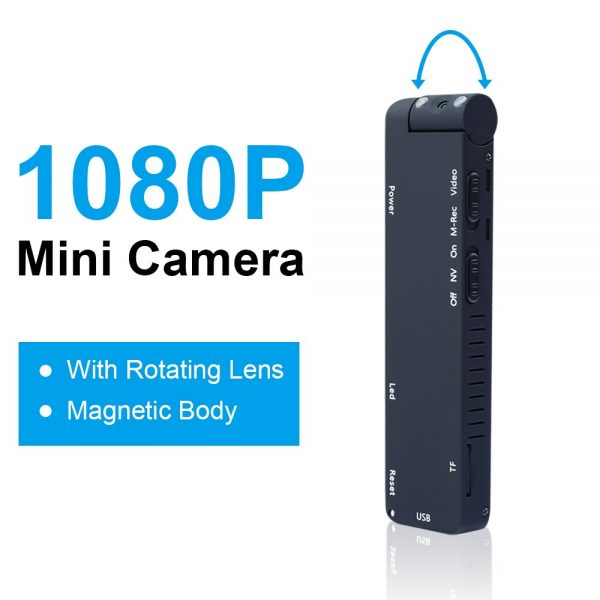 MD14 Motion Detection 1080P Rotable Lens HD Light Body Action Camera Video Loop Recording Camcorder
