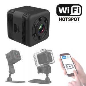 Mini Sport VGA Camera with Night Vision and Waterproof case Video can watch in phone APP