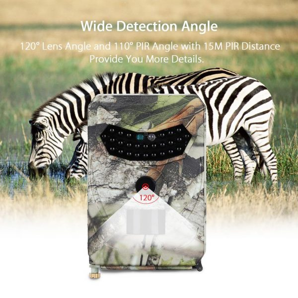 PR 100 HD 1080p Hunting Camera Photo Trap 12MP Wildlife Trail Night Vision 120 Degree Trail 1