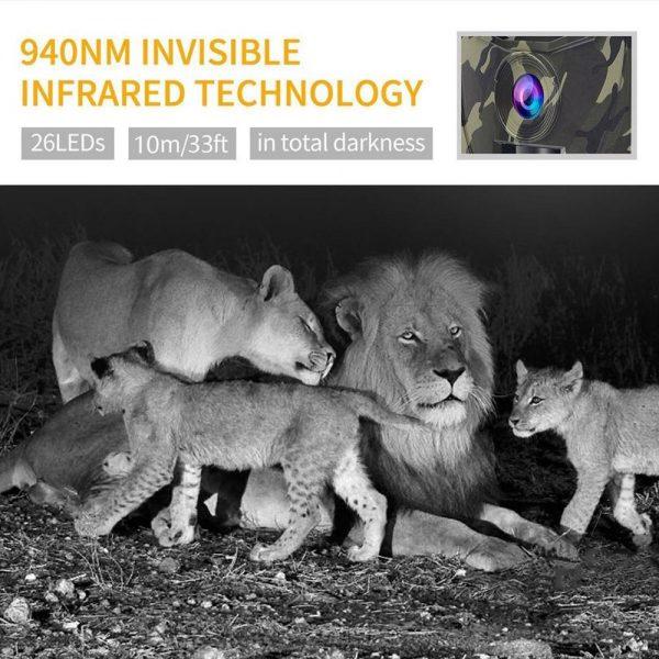 PR 100D HD 1080p Hunting Camera Photo Trap 12MP Wildlife Trail Night Vision 120 Degree Trail 1
