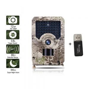 PR 200 HD 1080p Hunting Camera Photo Trap 12MP Wildlife Trail Night Vision 120 Degree Trail