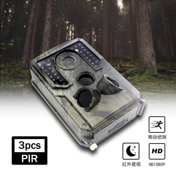 PR 400C HD 1080p Hunting Camera Photo Trap 12MP Wildlife Trail Night Vision 120 Degree Trail