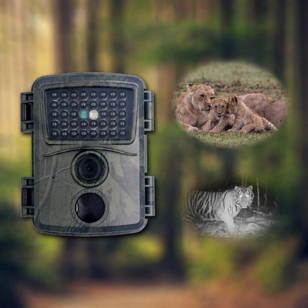 PR600A Green Camo Hunting Camera 1080p Night Vision 940nm Infrared LED Trail Camera Outdoor Wildlife Camera 1