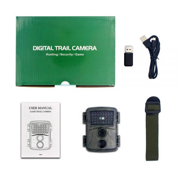 PR600A Green Camo Hunting Camera 1080p Night Vision 940nm Infrared LED Trail Camera Outdoor Wildlife Camera 5