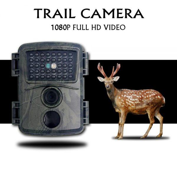 PR600A Green Camo Hunting Camera 1080p Night Vision 940nm Infrared LED Trail Camera Outdoor Wildlife Camera