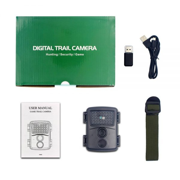 PR600B Black Hunting Camera 1080p Night Vision 940nm Infrared LED Trail Camera Outdoor Wildlife Camera Scouting 5