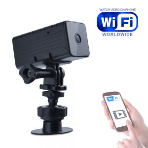 Portable Camera with WiFi Night Vision and Motion Detection Micro Camcorder Wireless Video Support Remote View