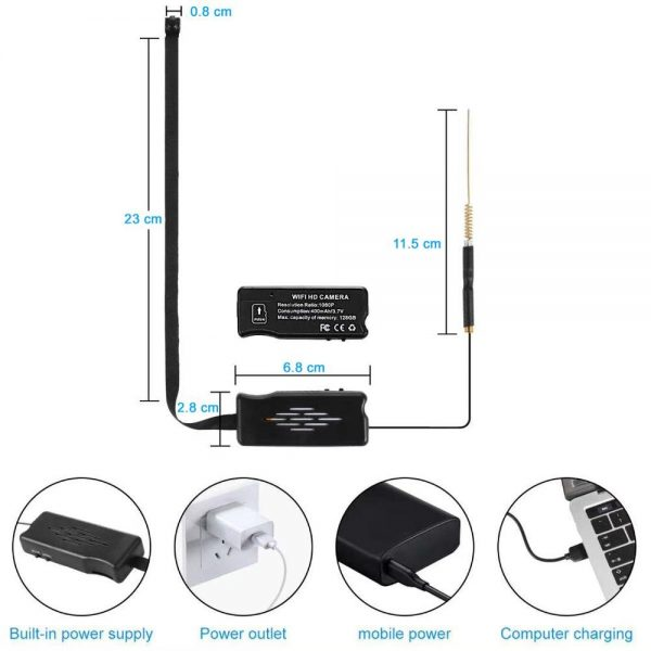 Practical WiFi IP Camera with Long Flexible Lens Motion detection and Passive Night Vision DIY instal 3
