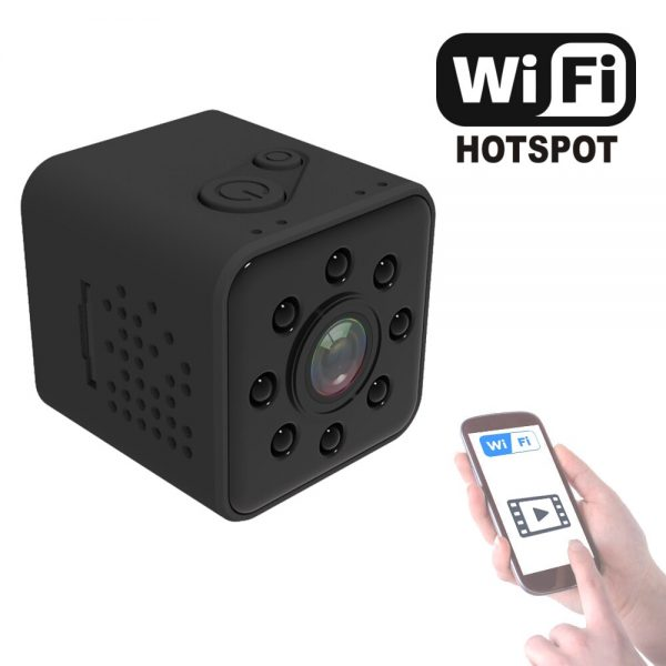 SQ23 Mini WiFi Camera Night Vision 1080P Wireless Hotspot Remote Monitor Phone App Motion Detection DVR 1