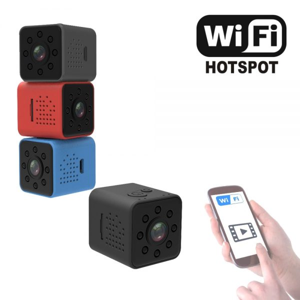 SQ23 Mini WiFi Camera Night Vision 1080P Wireless Hotspot Remote Monitor Phone App Motion Detection DVR