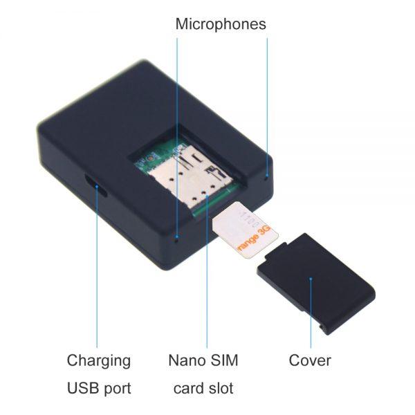 Voice Activate Security Alarm N9 Mini GSM Audio Listener with VOX Latest Version Model 2020 Audio