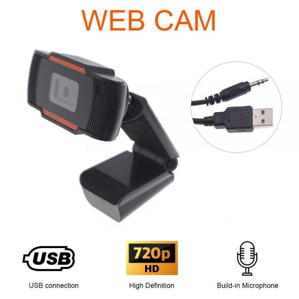 Web Camera HD Cam With USB Connector And Build in Microphone for Skype MS Teams Zoom