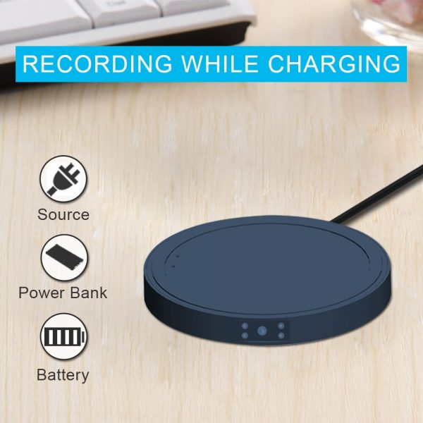 Wireless Charger Mini Camera MD19A for iPhone Samsung Huawei Xiaomi Phone HD 1080P Night Vision Motion 2