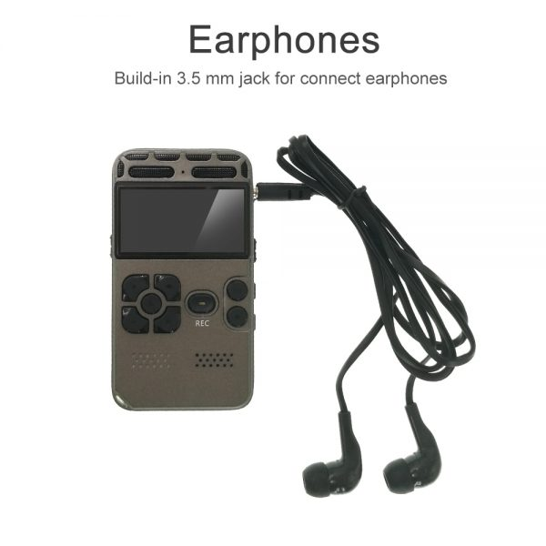 Digital Voice Recorder Upgrade 2021 For Meetings Noise Reduction Voice Activated Recording Device Audio Recorder Multi 4