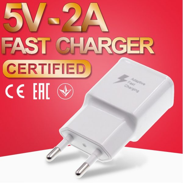 Fast Charger 5V 2A Power Travel Adaptor Safe and Good Certified USB Phone Quick Charging 2000mA