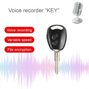 Key Voice Recorder Professional HD Noise Reduction HiFi MP3 Player Digital Audio Recorder 20H Long Time