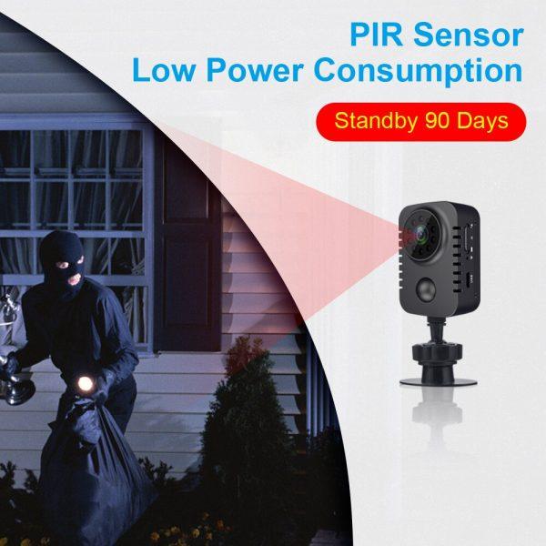 MD29 90 Days Standby Time PIR Motion Detection 1080P HD Mini Camera IR Night Vision Photo 1