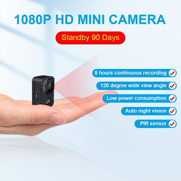MD29 90 Days Standby Time PIR Motion Detection 1080P HD Mini Camera IR Night Vision Photo