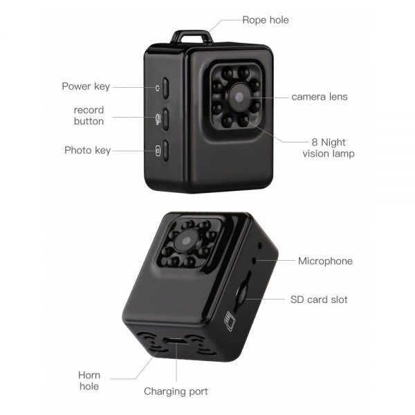 Mini Sport Camera G107 With Motion Detection Night Vision Video Resolution 1080p Full HD Photo Trap 5