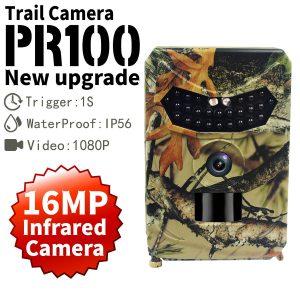 PR 100 PRO HD 1080p Hunting Camera Photo Trap 16MP Wildlife Night Vision 120 Degree Trail
