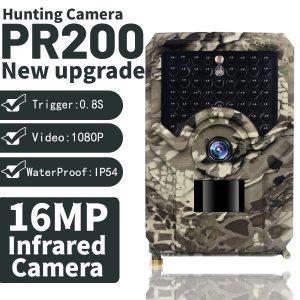PR 200 PRO HD 1080p Hunting Camera Photo Trap 16MP Wildlife Night Vision 120 Degree Trail