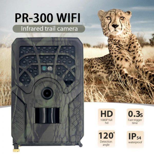 PR 300C WiFi HD 1080p Hunting Camera Photo Trap 5MP Wildlife Trail Night Vision 120 Degree 2