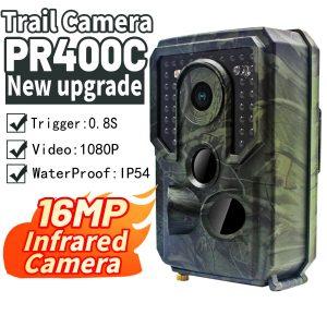 PR 400 PRO HD 1080p Hunting Camera Photo Trap 12MP Wildlife Trail Night Vision 120 Degree