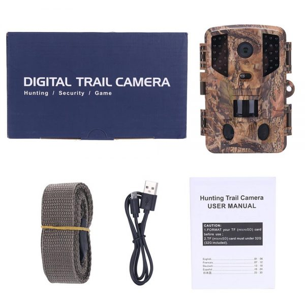 PR 900 HD 1080p Hunting Camera Photo Trap 16MP Waterproof IP66 Wildlife Trail Night Vision Video 5