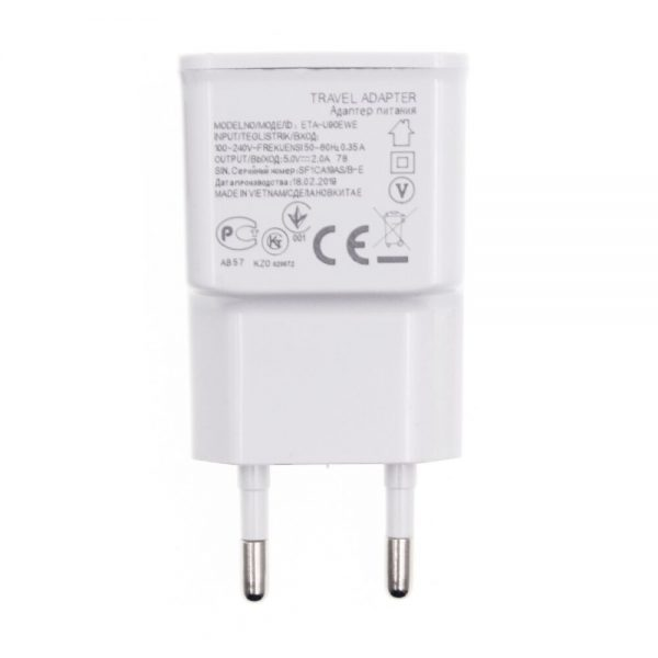 Phone Charger USB Power Travel Adaptor 5V 2A Safe and Good Certified 2000mA Europe Plug 1