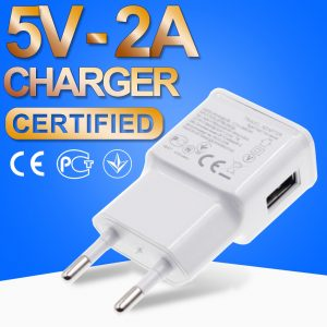 Phone Charger USB Power Travel Adaptor 5V 2A Safe and Good Certified 2000mA Europe Plug