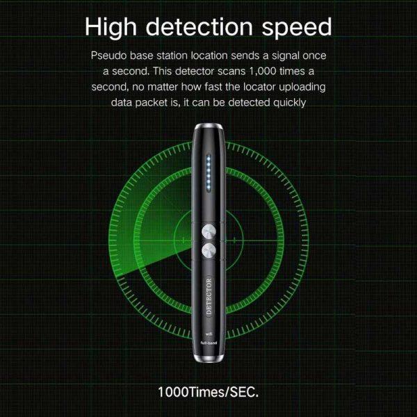Portable Wireless Signal Detector T8 Hidden Pinhole Camera GPS Position Mini Bug Detection Pen Anti Wiretap 2