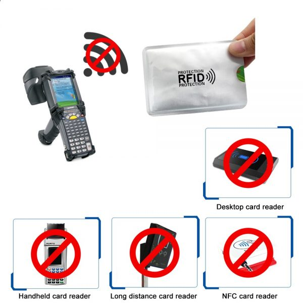 Protective Security Protection Bag For Scanning And Blocking Signal For ID Cards And Bank Cards With 1