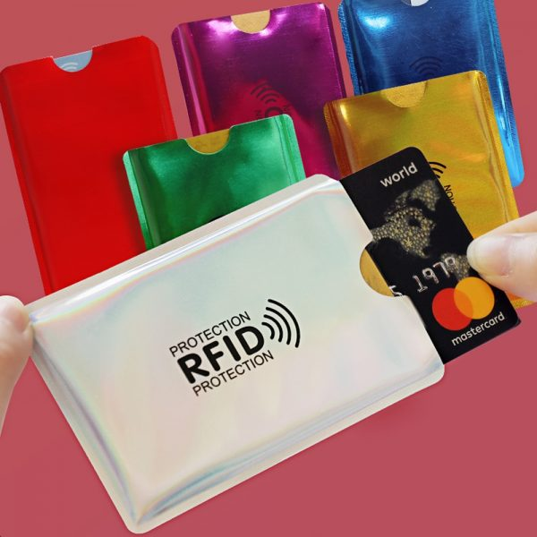 Protective Security Protection Bag For Scanning And Blocking Signal For ID Cards And Bank Cards With