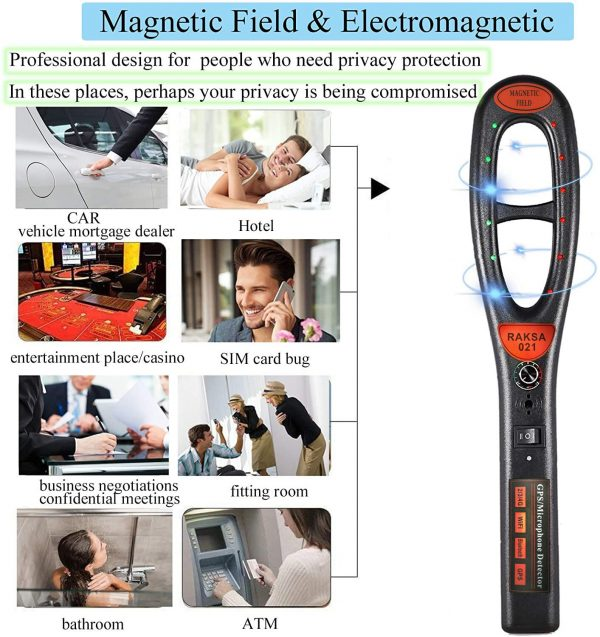 Raksa 021 Handheld Security Scanner For Detect Wireless RF Signal And Magnet Detector 2