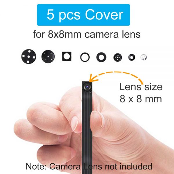 Universal Button Lens Cover For Mini WiFi IP Camera Sensor 8x8mm Pack